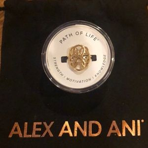 """Brand new Alex and Ani """"Path of Life"""" ring"""